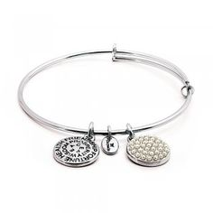 Stack Chrysalis bracelets for on trend accessioning. Chrysalis Pearl Expandable Bangle £29