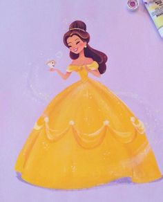 Belle by Liana Hee / Drawing Princesa Disney Bella, Disney Belle, Disney Nerd, Disney Girls, Disney Dream, Disney Love, Fera Disney, Arte Disney, Disney Magic
