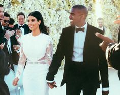 Find Out Exactly How to Recreate Kim Kardashian's Wedding Hair - Wedding Makeup Celebrity Celebrity Wedding Makeup, Simple Wedding Makeup, Wedding Makeup Tips, Elegant Wedding Hair, Wedding Makeup Looks, Bride Makeup, Celebrity Weddings, Hair Wedding, Unique Makeup