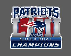 New England Patriots 2019 Super Bowl LIII 53 Champions Decal New England Patriots Merchandise, New England Patriots Logo, Patriots Football, Super Bowl, Go Pats, Patriotic Shirts, Nfl, Champion, Wall Decal