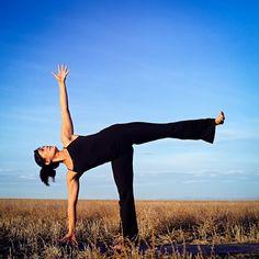 Half moon pose #lunar #yoga #nature