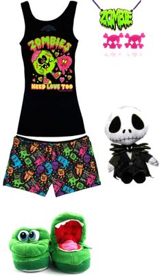 """""""monster pajamas"""" by foreverbroken ❤ liked on Polyvore 