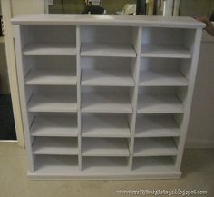 Crafty Imaginings & Silly Things: DIY Storage Cubbies with Adjustable Shelves. Makes me want a Kreg!
