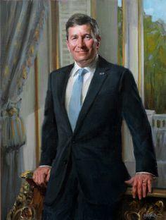 Portrait Painting of Ambassador Charles Rivkin by Michael Shane Neal - The Studio of Portrait Artist Michael Shane Neal - Original portrait ...