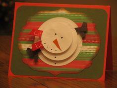 Snowman Christmas card DIY