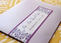 purple yellow invitation envelope - address label #addresslabel #envelopeicing #purple #yellow