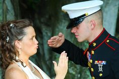Love it. Marine Corps Wedding