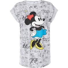 Primark Minnie Mouse Tee, 6 ❤ liked on Polyvore featuring tops, t-shirts, going out tops, night out tops, party tops, holiday party tops and party t shirts
