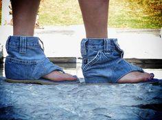 Denim flip-flop (picture only)