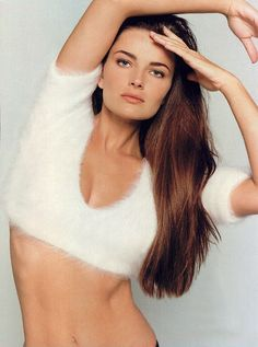 80s - Paulina Porizkova. Czechoslovakian model. She became the first woman from Central Europe to grace the cover of the Sports Illustrated swim-suit issue. She was the second woman after Christie Brinkley to be featured on the swim-suit issue's front cover consecutive times.