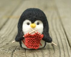 Hey, I found this really awesome Etsy listing at https://www.etsy.com/nz/listing/103892166/needle-felted-penguin-knitting