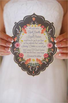 Die cut wedding invite by Sheri McCulley Studio