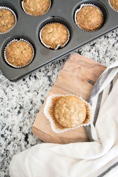 oatmeal banana muffins recipe.