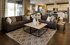 awesome 46 Awesome Living Room Paint Ideas By Brown Furniture Brown Couch Decor, Brown Couch Living Room, Beige Living Rooms, Living Room Color Schemes, Living Room Colors, Cozy Living Rooms, Living Room Paint, New Living Room, Living Room Designs