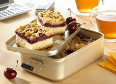 Streusel und Kirschen in einem Kuchen - einfach perfekt: http://www.ichliebebacken.de/rezeptebox/kuchen/kirschstreusel
