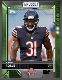 Antrel Rolle Chicago Bears Green Parallel Card 2016 Topps HUDDLE
