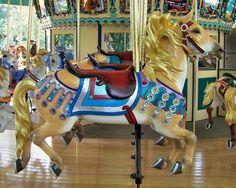 1926 Illions Carousel at Worlds of Fun, Kansas City, MO The Worlds of Fun Carousel Illions Jumper