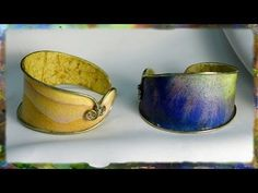 How to Make a Watercolor Paper Bracelet: Integrating Wire with Watercolor Paper - YouTube