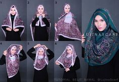 >>> I am going to try this. Stylish Hijab, Casual Hijab Outfit, Hijab Dress, Square Hijab Tutorial, Hijab Style Tutorial, Islamic Fashion, Muslim Fashion, Hijab Fashion, How To Wear Hijab