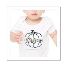 Sweet PERSONALIZED glittery little girls halloween t-shirt for your PRETTY LITTLE PUMPKIN AVAILABLE AS LONG OR SHORT SLEEVE DESIGN.  PLEASE INCLUDE