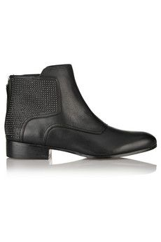 Pour la Victoire Keon studded leather ankle boots   THE OUTNET