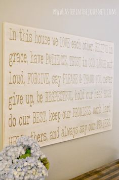 DIY Wall Art Tutorial: Family Rules with http://www.astepinthejourney.com