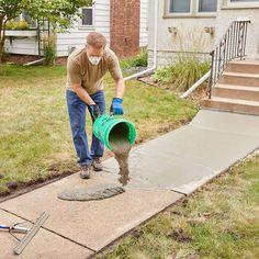 home repairs,home maintenance,home remodeling,home renovation Sidewalk Repair, Driveway Repair, Diy Driveway, Driveway Ideas, Concrete Projects, Outdoor Projects, Home Projects, Home Renovation, Home Remodeling