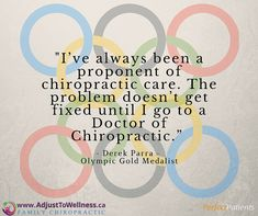 The #Olympics are almost here! Did you know that many Olympic athletes in this year's games are under #chiropractic care? #adjusttowellness