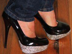 DIY bling heels