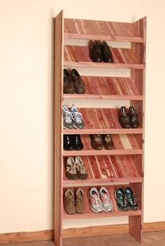 Deluxe Solid Shoe Cubby Closet Organizer - This is a great DIY project, wonderful for new construction or home remodel. Our Deluxe Solid Shoe - Wood Closet Shelves, Closet Storage, Closet Organization, Organization Ideas, Garage Storage, Garage Shoe Storage, Shoe Storage Small, Laundry Shelves, Laundry Storage