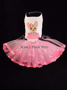 Adorable Chihuahua Dog Tutu Dress _ Dog Clothes _ FALL 2016 _ #KIMSPOSHPETS _ PLEASE follow me on: Facebook, Etsy, Instagram & Pinterest @ Kim's Posh Pets