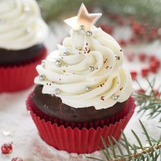 These skinny gingerbread cupcakes are the perfect healthy portion for a sweet and creamy holiday treat that won't break the calorie bank!