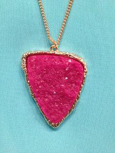 TrendsWeLove - Pink Stone Pendant , $25.00 (http://www.trendswelove.com/pink-stone-pendant/)
