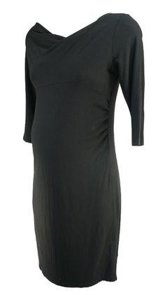 Black Belly Basics 3/4 Sleeve Casual Maternity Dress (Like New - Size Small) - Motherhood Closet - Maternity Consignment