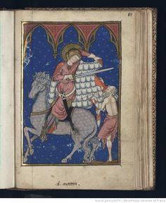 Today is the feast of St Martin of Tours, the first non-martyr to have a recognised cult, and a very popular saint in the middle ages - as . Medieval Manuscript, Medieval Art, Illuminated Manuscript, Sculpture Painting, San Martin, Romanesque, Christ, Middle Ages, Ikon