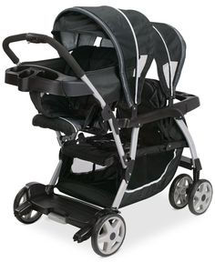 Bustling about town with two little ones at once is so much simpler with the Graco Ready2Grow Click Connect Stand & Ride Stroller. This innovative stroller can hold two children, from infant to youth,