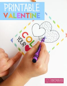 Download this free printable kid's Valentine for a cute Valentine to hand out to your sweet kids this year!
