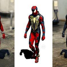 Spiderman Web, Spiderman Suits, Demon Drawings, Scarlet Spider, Spider Verse, Batman, Marvel, Concept, Detail