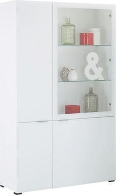 Schicke Vitrine In Weiß Und Glas   Ein Hingucker In Ihrem Zuhause