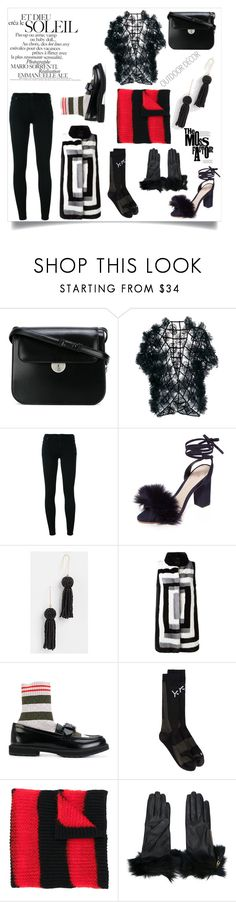 """when in doubt wear black"" by emmamegan-5678 ❤ liked on Polyvore featuring Maison Margiela, Noir Kei Ninomiya, Citizens of Humanity, Loeffler Randall, Madewell, Liska, Fendi, Y-3, McQ by Alexander McQueen and Prada"