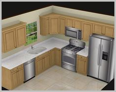 10x10 kitchen cabinets with island, kitchen design for small
