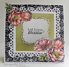 Our Daily Bread Designs Stamp sets: Blossom, Fragrance, Layered Lacey Squares, Our Daily Bread Designs Chalkboard Paper Collection, Blushing Rose Paper Collection