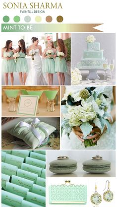 hate the rest of this, but the place cards are perfection! mint green place cards with gold writing