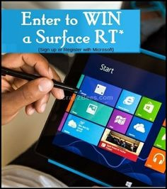Looking for the perfect holiday gift? Enter to WIN a Microsoft 32 GB Surface RT! Enter the Microsoft retail store sweepstakes for your chance to win the weekly sweepstakes prize, a Microsoft 32 GB Surface RT!
