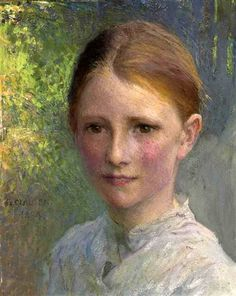 Study For Head Of A Girl (Emmy Wright) George Clausen – English) Figure Painting, Painting & Drawing, Rodin, English Artists, Greek Art, Impressionist Art, Seascape Paintings, Portrait Art, Artist At Work