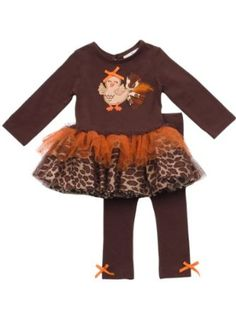 Rare Editions Baby Girl Turkey Tutu Legging Set