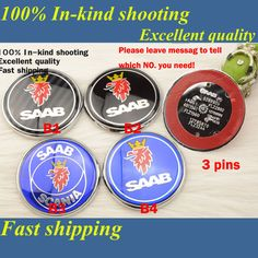 Find More Emblems Information about Excellent quality]2 piece alloy 68mm SAAB front bonet bonnet rear boot hood badge blue 3pins / 2 pins car emblem,High Quality emblem pin,China car dvd player kids Suppliers, Cheap emblem eagle from Wheel hub cover manufacturer on Aliexpress.com