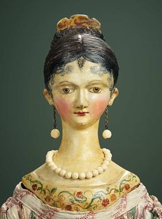 557 best images about Dolls: Early- Milliners, Queen Anne . Doll Head, Doll Face, Green Slippers, 1920s, Old Dolls, Wooden Dolls, How To Antique Wood, Antique Toys, Queen Anne