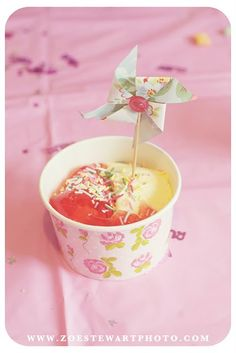 Jelly and Ice cream! and a PINWHEEL!