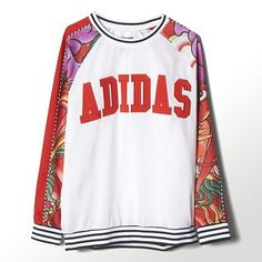 adidas Rita Ora Dragon Print Sweatshirt - fashion at shopcade